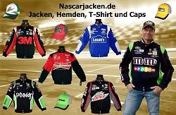 Nascarjacken.de, Jacken, T-Shirts, Nascar Caps verschiedener Fahrer. Dale Earnhardt, Kyle Busch, Jimmie Johnson, Patrick