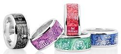 Speziell angefertigter Ring aus Bad Dürkheim als Souvenir, Präsent oder ausgefallene Aufmerksamkeit oder als Mitbringsel