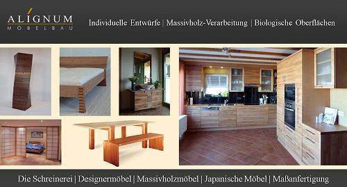 ALIGNUM Möbelbau & Schreinerei Mannheim, wir fertigen individuelle Massivholzmöbel und Japanische Möbel