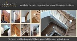 Treppen aus Massivholz Schreinerei ALIGNUM MÖBELBAU bei Mannheim plant ihre Holztreppe. Region Heidelberg und Ludwigshafen
