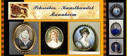 Miniaturen des 19. Jahrhunderts, Georg Friedrich Ochs, E. Matthews, Damenporträt, Herrenporträt, Damenminiatur, Herrenminiatur