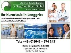 Stammzellentherapie, Zelltherapie, Zellentherapie München, 6 Tage Kur, Anti Aging, Block GmbH Lenggries,