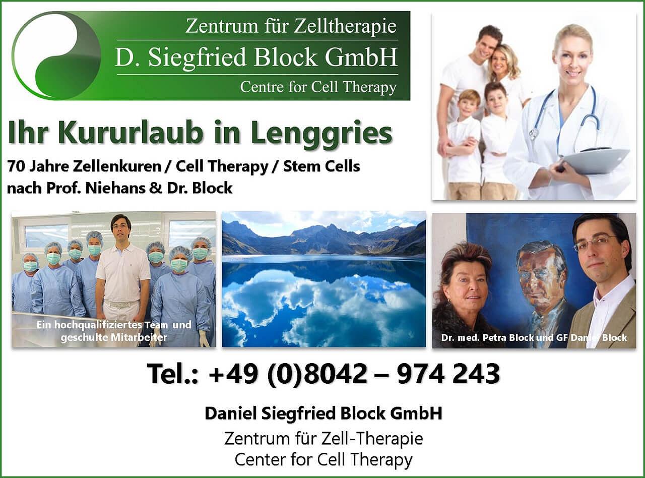Zellenkuren, Zellentherapie, Stammzellentherapie