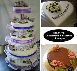 Chocolaterie-Patisserie J. Sprengart am neuen Berlin-Carre, Hochzeitstorten, Konditorei, Patisserie, Cafe, Marzipan, Pralinen