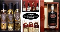 Cognac Pierre Ferrand, Calvados Chateau Breuil, Feinkost-Konditorei Berlin Mitte-Carree, Patisserie, Torten, Macarons