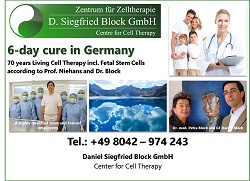 Lenggries Germany cell therapy Dr. Niehans, Dr. Block living cell therapy