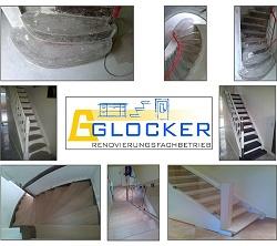 Bilder von Treppenrenovierung und Treppensanierung, Stufen belegen mit Laminat, Massivholz, Granit, Dünnstein oder Vinyl