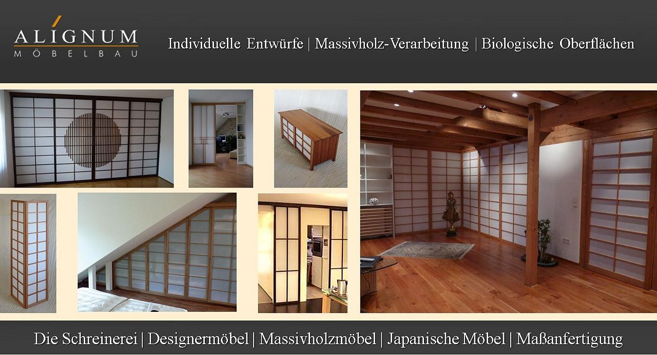 ALIGNUM Möbelbau & Schreinerei Mannheim, Shoji, Shoji Schränke, Raumteiler, Schiebetüren, Kleiderschrank, Japanpapier