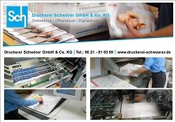 Druckerei Schwörer, Broschüre, Plakate, Folder, Flyer günstig drucken, Hochwertiger Offsetdruck, Ludwigshafen, Viernheim, Pfalz