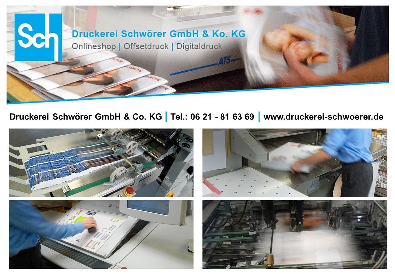 Druckmaschinen Offsetdruck der Druckerei Schwörer GmbH & Co. KG Mannheim