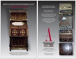 Antiquitäten-Schowalter | Neorenaissance Möbel Orientalismus Aufsatzschrank Italien 1880/90 Certosina Intarsien Renaissance Möbel