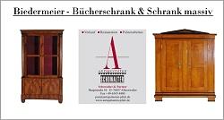 Auf dem Bild sehen Sie: Biedermeier Bücherschrank, Nordbaden, um 1825, Nussbaum furniert, Süddeutsch, um 1830, Kirschbaum massiv