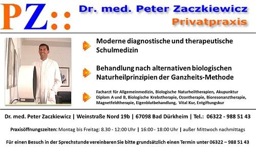 Arzt für Allgemeinmedizin Dr. med. Peter Zaczkiewicz in Bad Dürkheim